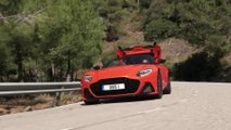 Aston Martin DBS Superleggera Volante in Cosmos Orange Driving Video