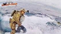 Brave Coast Guardsman Jumps On Moving Drug-Smuggling Submarine & Bangs On Hatch