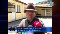 "Hospital ""Claudio Beneti"" cerrará por falta de recursos"