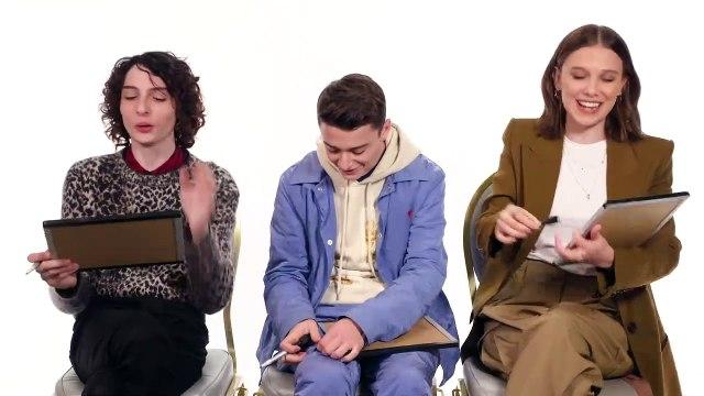 Stranger Things 3 Best Friends Challenge - Millie, Finn & Noah