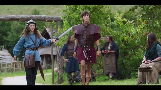 HORRIBLE HISTORIES THE MOVIE ROTTEN ROMANS Movie Clip - You can't keep a prisoner, its hard work!