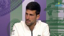 """Wimbledon 2019 - Novak Djokovic : """"Federer? It's the kind of game I dreamed about when I was a boy"""""""