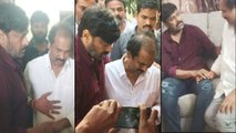 Chiranjeevi Consoles YSRCP Leader || Filmibeat Telugu