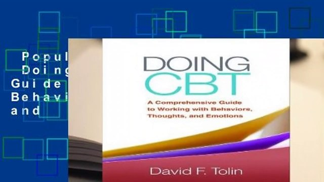 Popular to Favorit  Doing CBT: A Comprehensive Guide to Working with Behaviors, Thoughts, and
