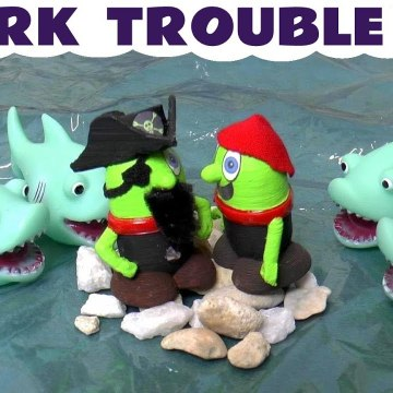Shark Trouble with Funny Funlings and Thomas and Friends as Pirates Pranks in this family friendly full episode funny story for kids