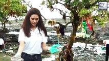 Esha Gupta Took Part In Beach Cleaning Campaign