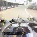 F1 - British GP - Romain Grosjean crashes on pit exit