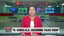 Seoul's top envoy says N. Korea-U.S. working-level negotiations will restart soon