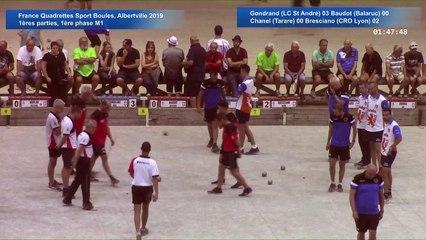 Premières parties de poules M1, première phase, France Quadrettes, Albertville 2019