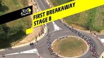 Première échappée/ First breakaway - Étape 8 / Stage 8 - Tour de France 2019