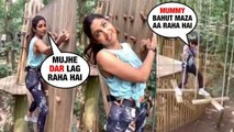 Shilpa Shetty doing THRILLING STUNTS with Son | Can't believe she is 45years