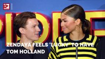 Zendaya feels 'lucky' to have Tom Holland