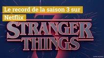 Stranger Things la saison 3 bat un record sur Netflix