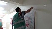 Yükümlüler okulların tadilatında görev alıyor