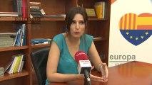 Lorena Roldán (Cs) da por hecho el pacto PSOE-Podemos.