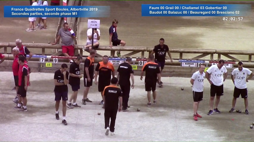 Secondes parties de poules M1, seconde phase, France Quadrettes, Albertville 2019