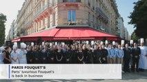 Paris' Fouquet's reopens its doors