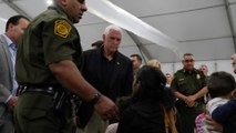 Mike Pence tour of migrant centre shows men crowded in cages
