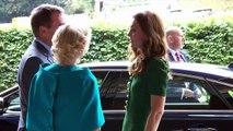 The Duchess of Cambridge arrives at Wimbledon