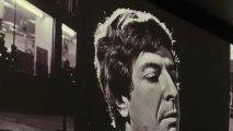 Un momento de la video instalación de la expo sobre Leonard Cohen.