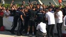 Ronaldo arrives ar Juventus for pre-season