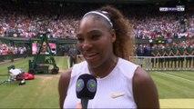 """Wimbledon / Serena : """"Halep a joué a un niveau fabuleux !"""""""