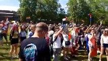 Rainbow flag sur la Pâquier à Annecy