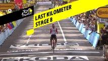 Last kilometer / Flamme rouge - Étape 8 / Stage 8 - Tour de France 2019