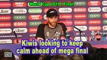 World Cup 2019 | Kiwis looking to keep calm ahead of mega final