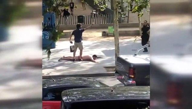Un conductor deja 7 heridos tras chocar con otros vehículos y darse a la fuga en Barcelona