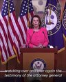 Nancy Pelosi: Attorney General William Barr 'lied to Congress,' that's a crime
