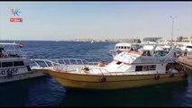 انطلاق اللنشات البحرية من ميناء الغردقة لمناطق الغوص