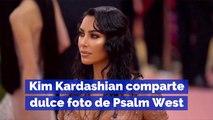 Kim Kardashian comparte dulce foto de Psalm West