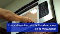 Los 7 alimentos más fáciles de cocinar en el microondas