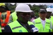 RTG/Visite d'inspection du Ministre Rigobert IKAMBOUAYAT BDEKA sur le site d'instalation de la Fibre optique au Gabon