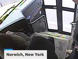 School bus driver saves student's life stepping off bus in video