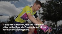 Top American In Tour De France Is Out Of The Race