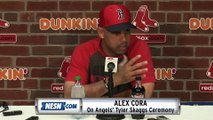 Alex Cora Reacts To Tyler Skaggs Ceremony, Angels No-Hitter