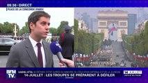 """""""Pour eux, c'est une reconnaissance formidable."""" Gabriel Attal soutient les jeunes du SNU qui s'apprêtent à défiler sur les Champs-Élysées"""
