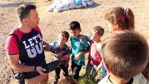 Erzincan İlk kez drone görünce şaşkınlıklarını gizleyemediler