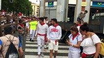 La carpintería Hermanos Aldaz retira el vallado tras el último encierro de San Fermín