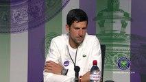 Novak Djokovic faces the media ahead of Wimbledon title defence