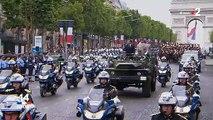 14 juillet: Le président Emmanuel Macron hué et sifflé par la foule durant toute la descente des Champs-Elysées ce matin