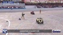 14-Juillet: des robots militaires, fleurons de l'innovation technologique, défilent devant la tribune présidentielle