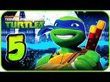 Nickelodeon Teenage Mutant Ninja Turtles Walkthrough Part 5 (X360, Wii) 100% - BOSS Baxter's Robot