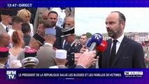 """""""Je n'ai rien entendu."""" Édouard Philippe réagit aux sifflets lancés par des gilets jaunes lors de l'arrivée du président"""