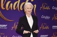 Dame Helen Mirren cuts her own hair