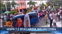 Fort séisme dans l'archipel indonésien des Moluques