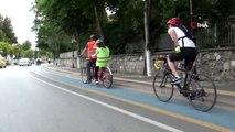 Görme engelli vatandaşlar, bisikletle şehir turu yaptı