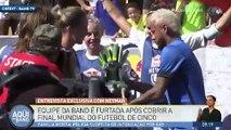 La TV brésilienne s'est fait braquer l'interview de Neymar